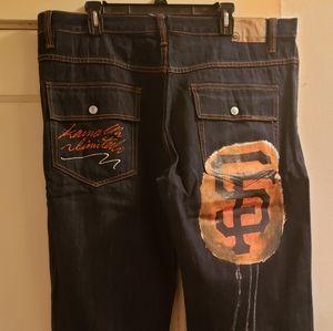 Mens Custom S.F Giants Jeans